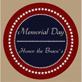 image of memorial  - Colored background with text and elements for memorial day - JPG