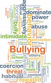 stock photo of bullying  - Background concept wordcloud illustration of bullying - JPG