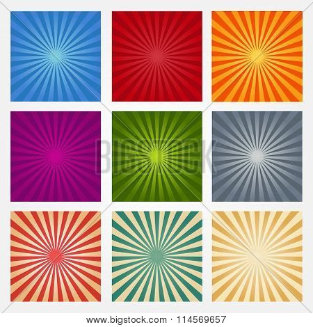 A Set Of Abstract Backgrounds Rays