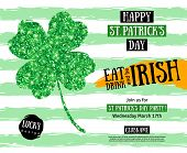 St. Patricks Day Pub Party Invitation template poster
