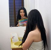 Beautiful Teen Girl With Makeup Palette (1)