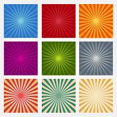 A Set Of Abstract Backgrounds Rays poster