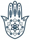 stock photo of hamsa  - Jewish sacred amulet  - JPG