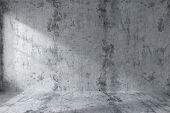 Постер, плакат: Empty Concrete Room Wall Interior