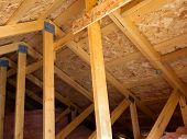 Insulated attic from trusses