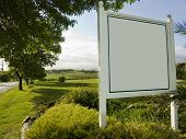 Blank Vineyard Sign