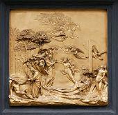 foto of adam eve  - Adam and Eve by Ghiberti - JPG