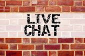 Conceptual Announcement Text Caption Inspiration Showing Live Chat . Business Concept For Chatting C poster