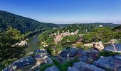 Hiker Overlook Harpers Ferry Landscape