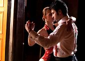 picture of tango  - A man and a woman dancing argentinian tango - JPG