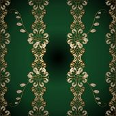 Classic Style. Graceful, Delicate Ornamentation In The Rococo Style. Beautiful Pattern For Textile,  poster