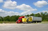 picture of 18 wheeler  - Two 18 - JPG