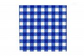 Closeup Of A Blue And White Checkered Kitchen Cloth Or Napkin Isolated On White Background. Kitchen  poster