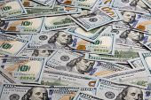 Dollar Money. Dollar Cash Background. Dollar Money Banknotes. Pile Of Paper Dollar Banknotes As Part poster