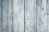 Gray And White Wooden Painted Cracked Fence. Old Wood Texture Background. Vintage, Retro Style. Ligh poster