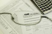 1040 Tax Form Through Glasses
