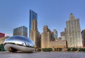 stock photo of illinois  - Millennium Park in Chicago - JPG
