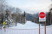 picture of sakhalin  - Ski sign way closed Yuzhno - JPG