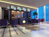 pic of reception-area  - modern design interior of reception hall - JPG