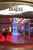 Beatles Love Entrance At The Mirage In Las Vegas, Nv On August 11, 2013