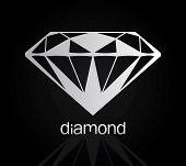 stock photo of diamond  - Vector drawing of the diamond  - JPG