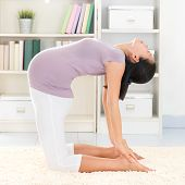 foto of pregnancy exercises  - Maternity health concept - JPG