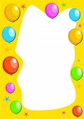 stock photo of dtp  - party balloon border - JPG