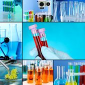foto of reagent  - Laboratory Collage - JPG