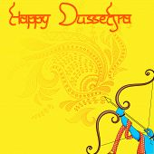 image of dussehra  - vector illustration of Rama killing Ravana in Happy Dussehra - JPG