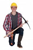 Man with a pickaxe