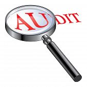 stock photo of financial audit  - Illustration presenting the concept of being audited or of performing an audit - JPG