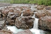 picture of taimyr  - Photo waterfall made during a hike in 2011 on the Putorana plateau - JPG
