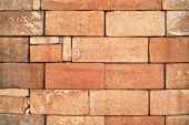 Stack Of Red Bricks