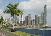 picture of highrises  - Partial panoramic view from Balboa Av - JPG