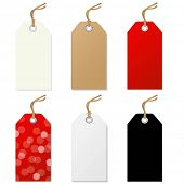 Sale Tags Set, With Gradient Mesh, Vector Illustration