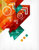 Futuristic abstract 3d infographic composition. Paper geometric shapes with options and space for te