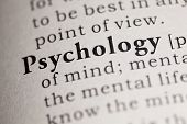 stock photo of psychological  - Fake Dictionary Dictionary definition of the word Psychology. ** Note: Shallow depth of field - JPG