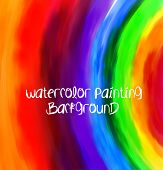 Vector abstract hand drawn watercolor background