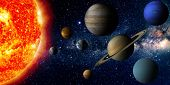 picture of earth mars jupiter saturn uranus  - solar system - JPG