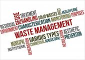 pic of waste management  - A word cloud of Waste Management related items - JPG