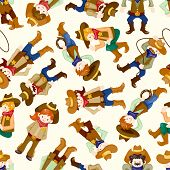 picture of bucking bronco  - seamless west cowboy pattern  - JPG