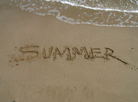 pic of summer beach  - Summer at the beach - JPG
