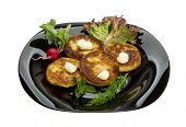 foto of hash  - Hash browns with herbs on the plate - JPG