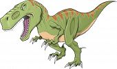 picture of tyrannosaurus  - Tyrannosaurus Dinosaur Vector Illustration Art - JPG