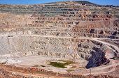 image of open-pit mine  - Open pit mine in Balaklava near Sevastopol city  - JPG