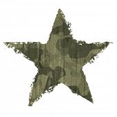 stock photo of camouflage  - Camouflage star symbol - JPG