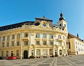 stock photo of sibiu  - sibiu city hall romania architecture general view - JPG
