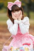 picture of lolita  - Portrait of a japanese woman in sweet lolita cosplay fashion - JPG