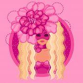 picture of virgo  - Vector Illustration of virgo zodiac sign - JPG