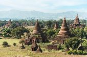 Travel Landscapes And Destinations. Amazing Architecture Of Old Buddhist Temples At Bagan Kingdom, M poster